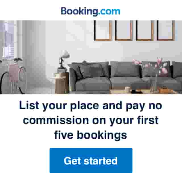Booking.com banner to rent out holiday home