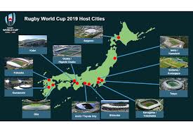 RWC 2019 venue map