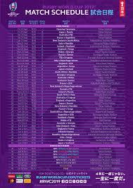 Thumbnail RWC 2019 schedule