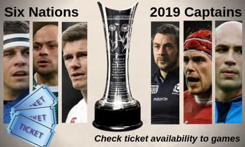 6nations tickets banner with 2019 team captains