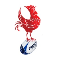 French rugby rooster banner